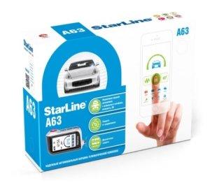 Установка автосигнализации StarLine A63